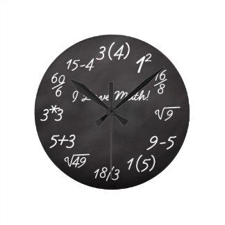 Funny Math Geek Wall Clock