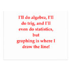 funny math joke postcard