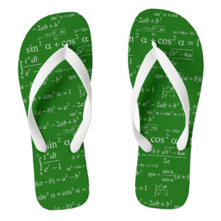 Funny Mathematics Equations Chalkboard Math Geeky Flip Flops