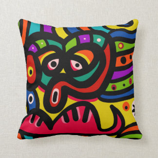 Funny Maya Design Throw Pillow
