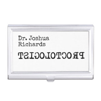 Funny medical doctor customizable business card holder