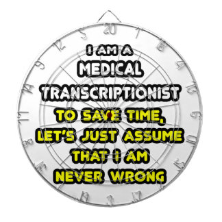 Funny Medical Transcriptionist T-Shirts Dart Boards