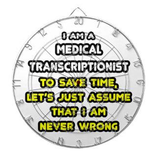 Funny Medical Transcriptionist T-Shirts Dartboard