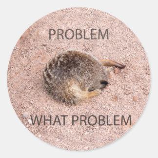 Funny Meerkat Round Sticker