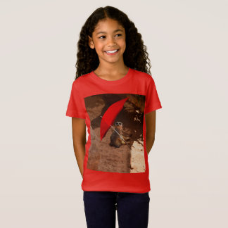 Funny Meerkat Sitting Under Umbrella, T-Shirt