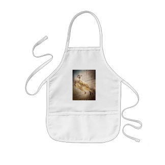 Funny Meerkat Sitting with Back to Wall, Grunge Kids Apron
