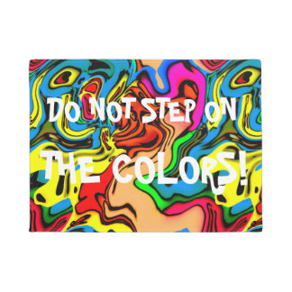 Funny Melting Colors Design Doormat