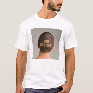Funny Mens Big Brother Haircut Shaved Head T-Shirt