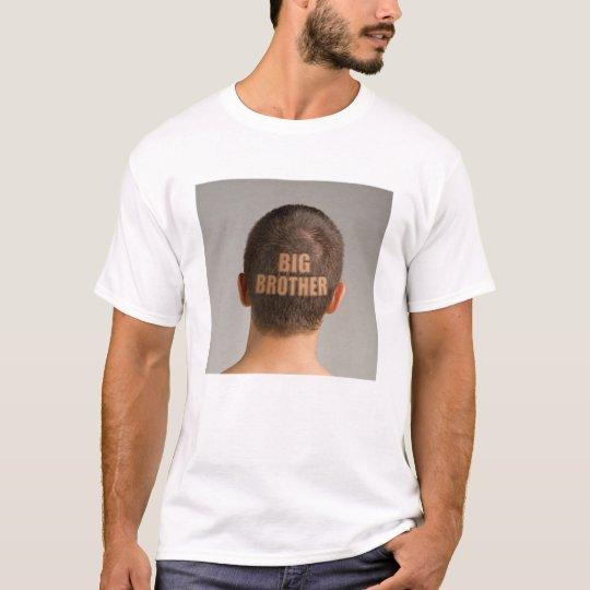 Funny Mens Big Brother Haircut Shaved Head T-Shirt