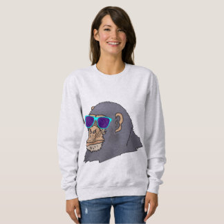 Funny Men's T-shirts, GORILLA wearing sunglasses Sweatshirt