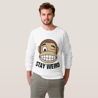 Funny Men's T-shirts, STAY WEIRD, Monkey Tees