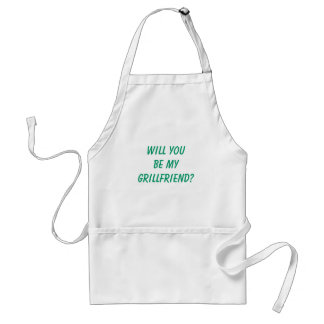 "Funny Men's ""WILL YOU BE MY GRILLFRIEND?"" Aprons"