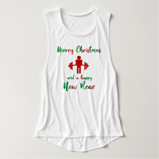 Funny Merry Christmas Fitness Gym Shirt