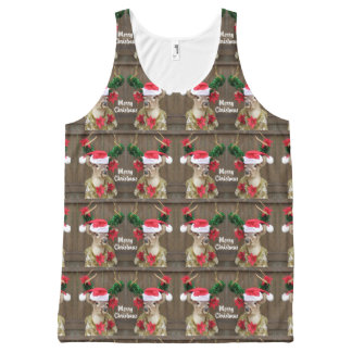Funny Merry Christmas Whitetail Deer Buck All-Over-Print Tank Top