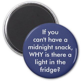"""Funny """"Midnight Snack"""" custom color kitchen magnet"""