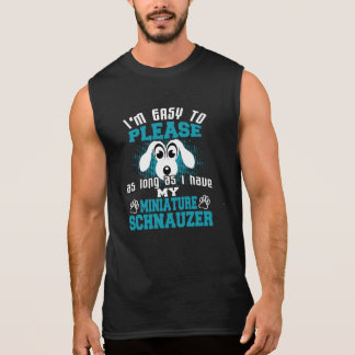 Funny Miniature Schnauzer Dog Owners Sleeveless Shirt
