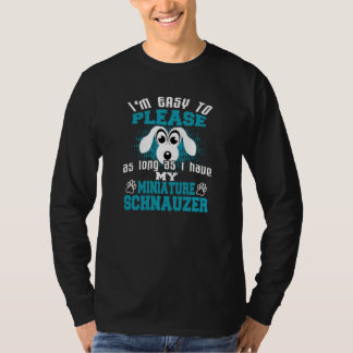 Funny Miniature Schnauzer Dog Owners T-Shirt