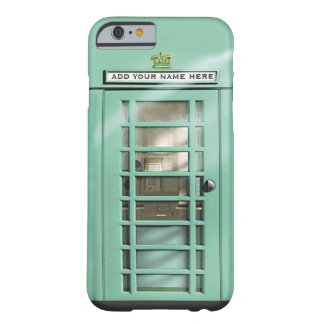 Funny Mint Green British Phone Box Personalized Barely There iPhone 6 Case