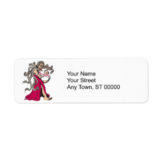 funny miss monster ugly pageant winner cartoon return address label