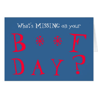 Funny Missing You Birthday Card