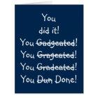 Funny Misspelling Graduation Congratulations BIG Card