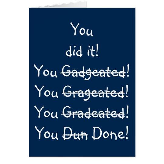 Funny Misspelling Graduation Congratulations Card