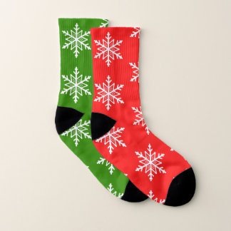 Funny Mix Match Christmas Red and Green Snowflakes 1