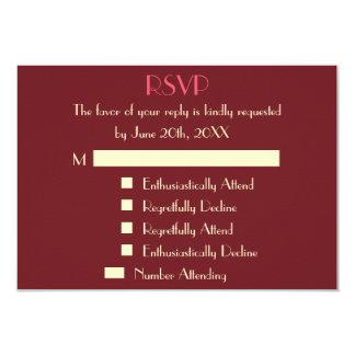 Funny Modern Personalized Wedding RSVP Invitation
