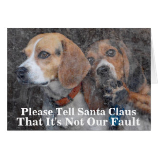 Funny Mom Doesn't Do Windows Beagle Christmas Card