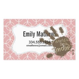 Funny Mom Mauve Circles Business Cards