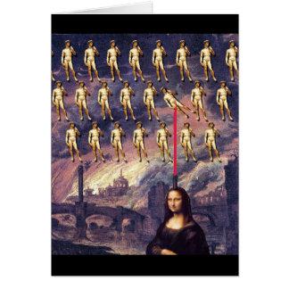 Funny Mona Lisa & David Card