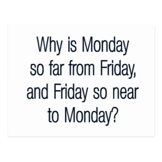 Funny Monday Quote Postcard