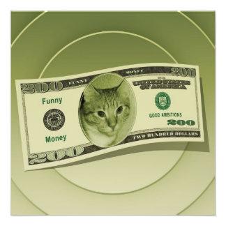 Funny Money Custom Announcement