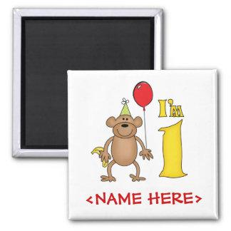 Funny Monkey 1st Birthday Magnet