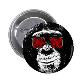 Funny monkey 2 inch round button