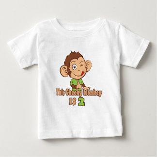 Funny Monkey 2 year old birthday Baby T-Shirt