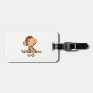 Funny Monkey 6 year old birthday Luggage Tag