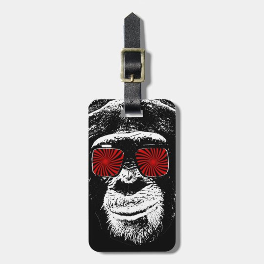 Funny monkey bag tag