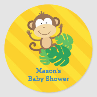Funny Monkey in the Jungle Personalized Sticker