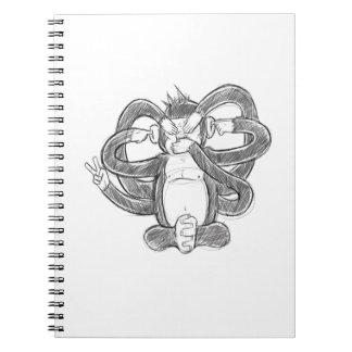 Funny Monkey Notebook