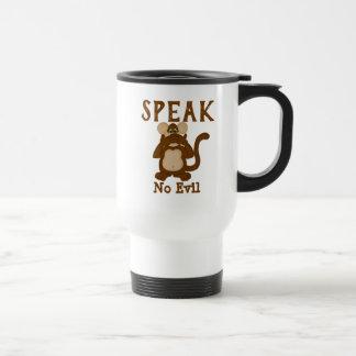Funny Monkey Speak No Evil Travel Mug