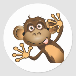 Funny Monkey Stickers