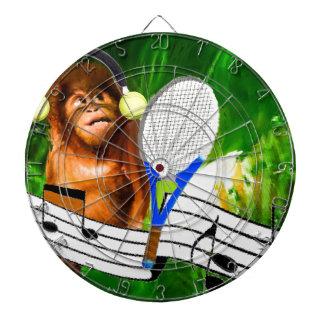 Funny monkey with racket dartboards