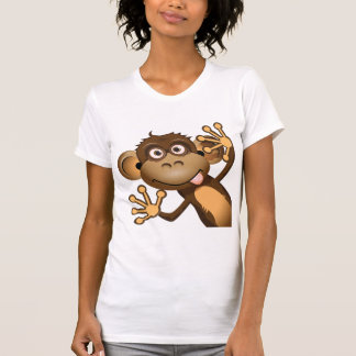 Funny Monkey Womens T-Shirt