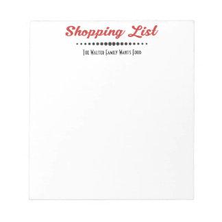 Funny Monogram Family Shoppiing List - Retro Notepad