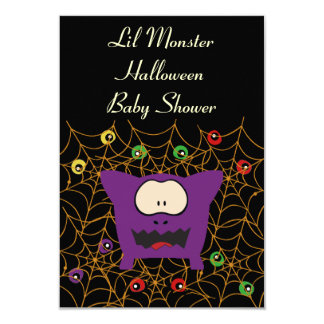Funny Monster Baby Shower Invitation Cards