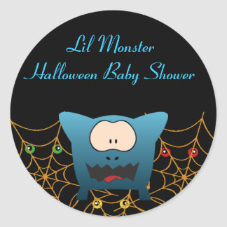 Funny Monster Baby Shower Stickers