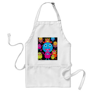 Funny Monster Bash Cute Creatures Party Aprons