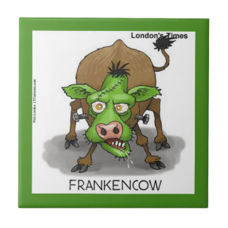 Funny Monster Cow Ceramic Tile