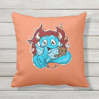 Funny Monster Escape Double Sided Outdoor Pillow